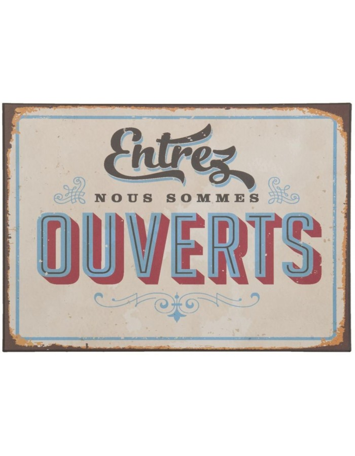 ENTREZ tin-plate colourful - 6Y1516 Clayre Eef