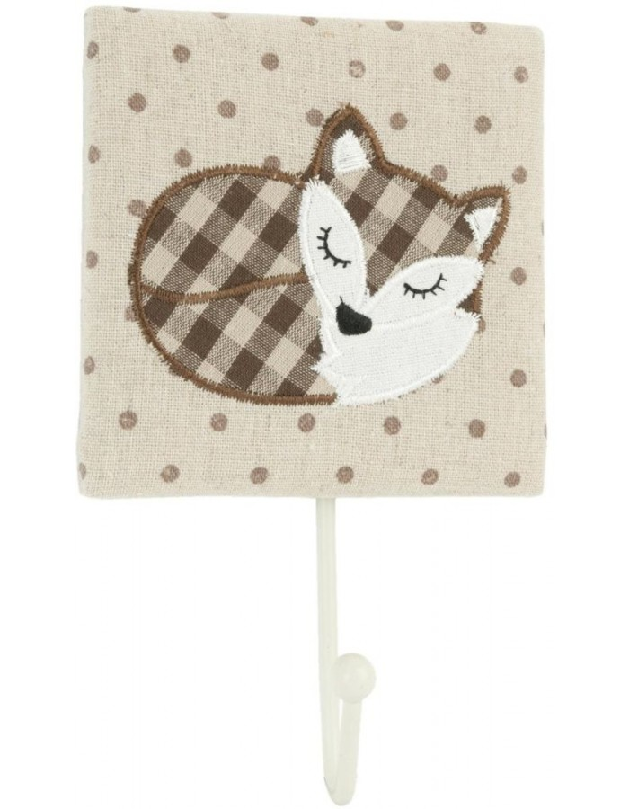 FOX wooden hook 12x20 cm