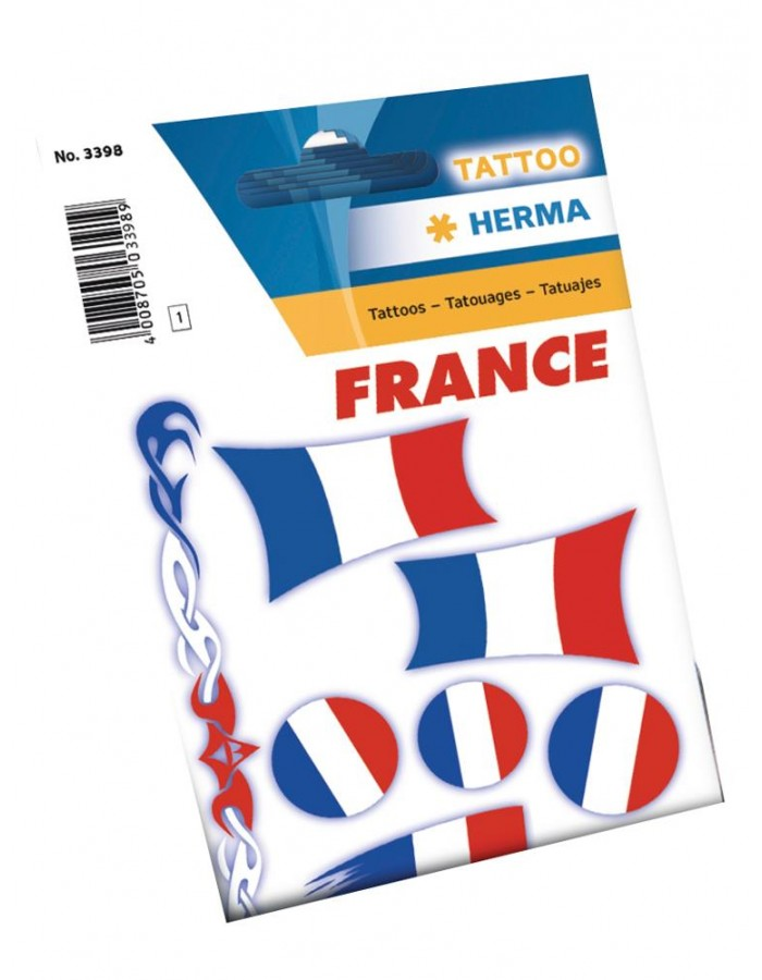 Tattoos france flaggs