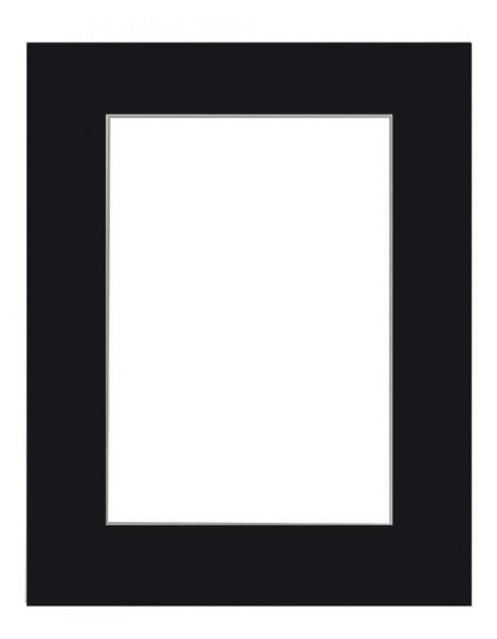 FDM Fertig Passepartout 20 x 40 cm auf 10 x 30 cm schwarz ...
