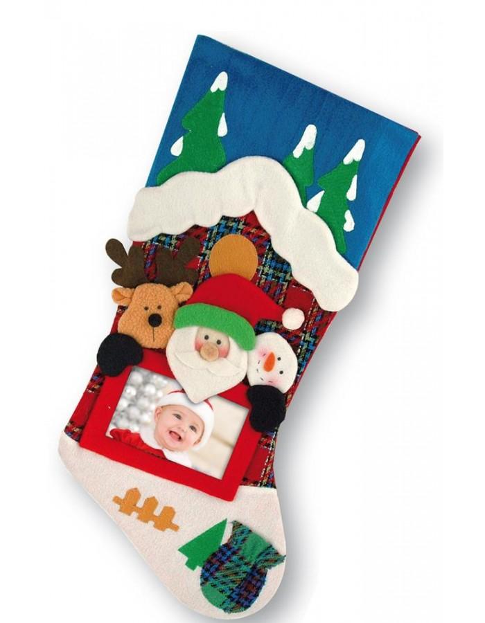 ZEP Foto-Weihnachts-Socke für 1 persönliches Foto | fotoalben ...