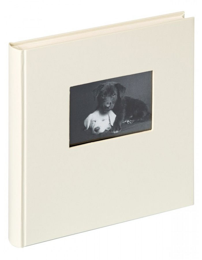 Walther fotoalbum charm 30x30 cm wei mit fenster for Fenster 30x30