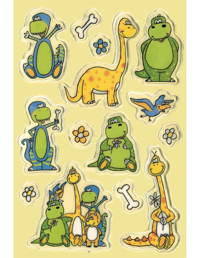decorative labels MAGIC Dinos Transpuffy 1 sheets