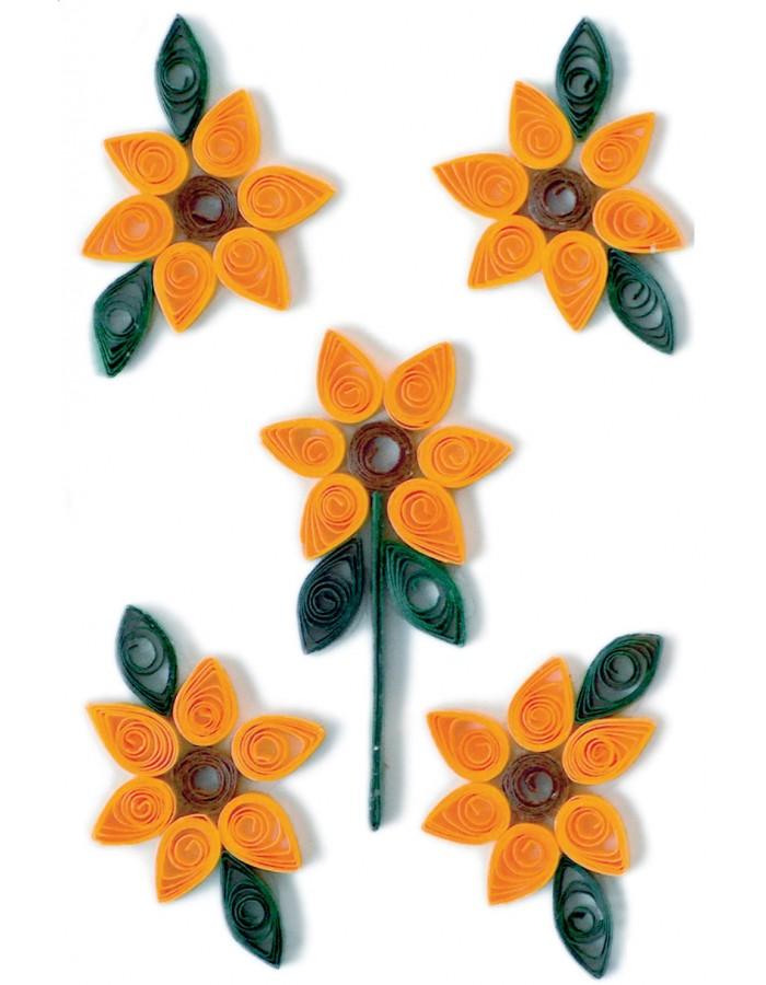 Schmucketiketten MAGIC Sonnenblumen Quilling 1Bl. Herma | fotoalben ...