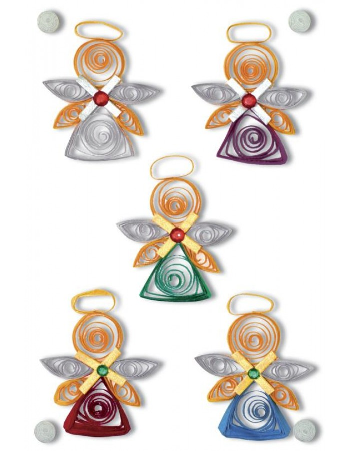 Schmucketiketten MAGIC Engel, Quilling, 1Bl.