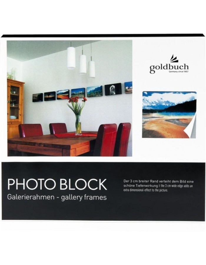 photo block black 30x30 cm