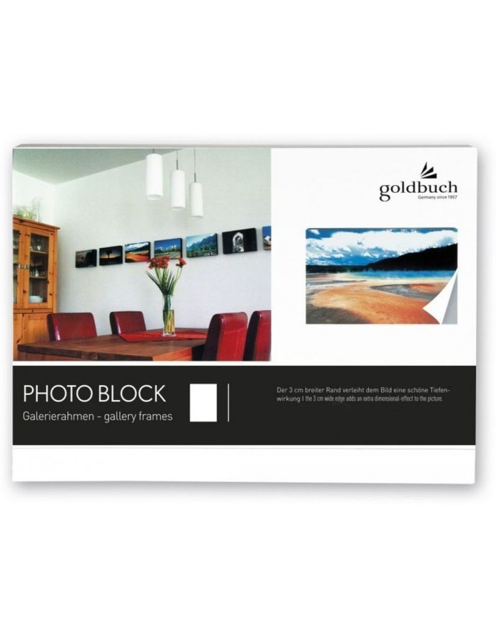 photo block white 30x45 cm