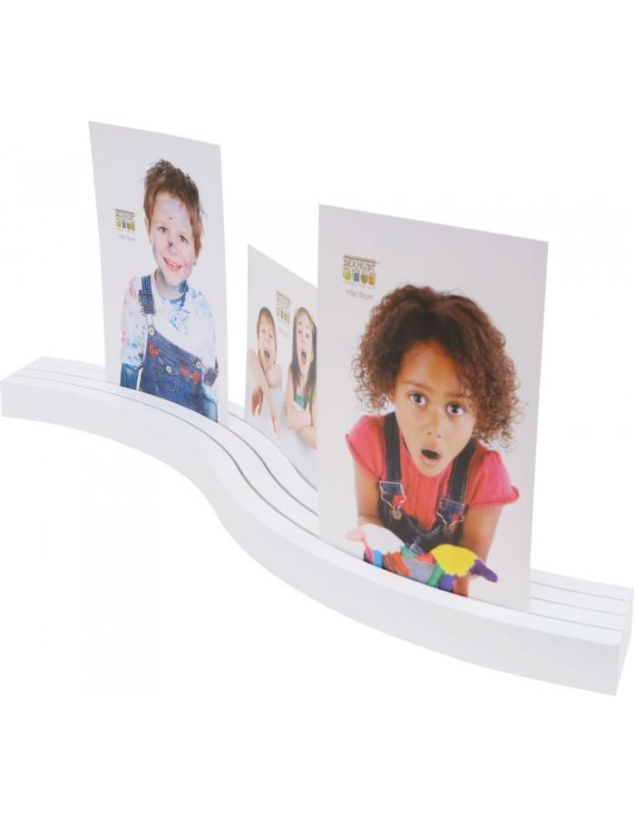 Fotohalter gebogen weiß 3 Einschübe | fotoalben-discount.de