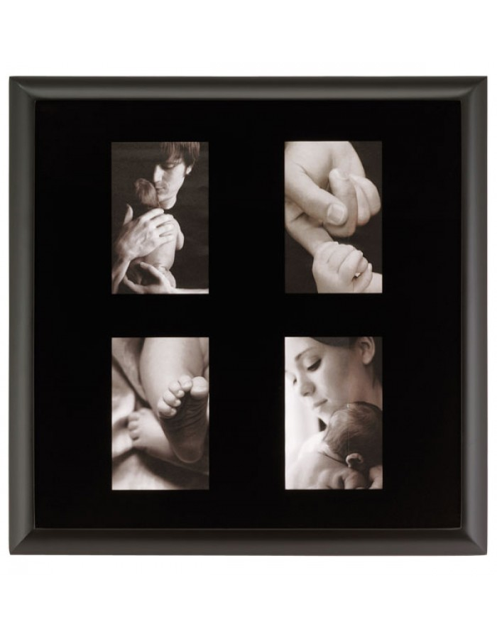 Gallery picture frame - 4 Photos 10x15 cm black