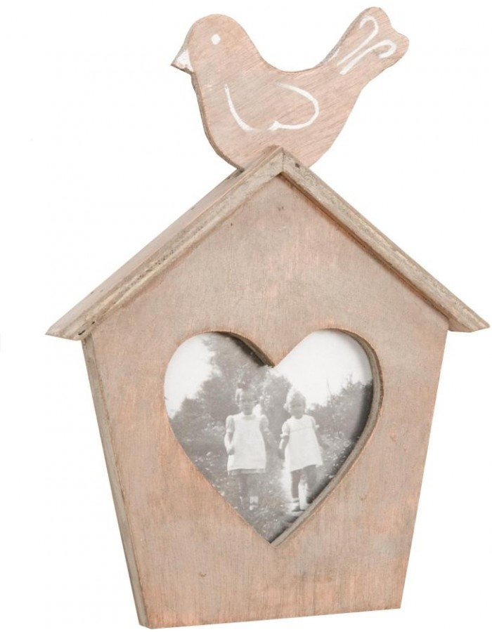 Photo Frame 8x10 cm birdhouse brown