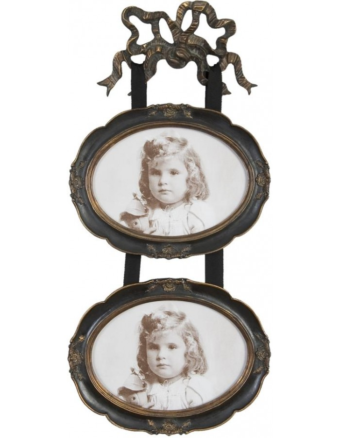 Fotorahmen antik dunkel für 2 Fotos 12x 16 cm   fotoalben-discount.de