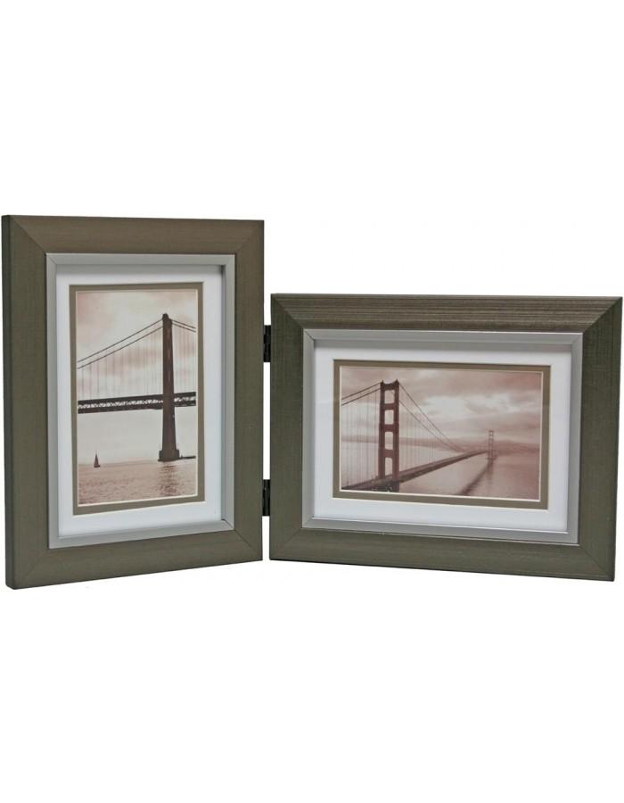 Henzo FriscoBay double frame 2 x 15x20 cm gold | fotoalben-discount.de