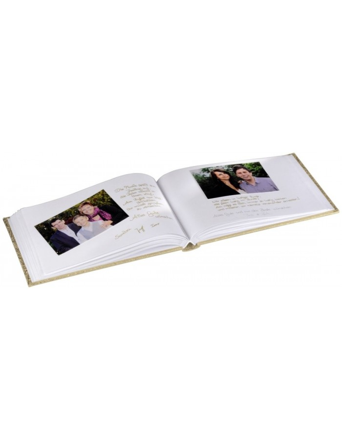 Caracas Photo and Guest Album, 30x20 cm, 60 white pages, gold
