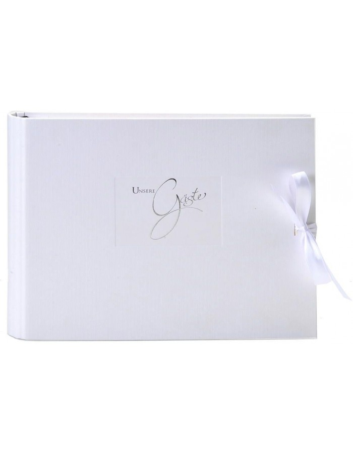Guest book spiral bound Seda white