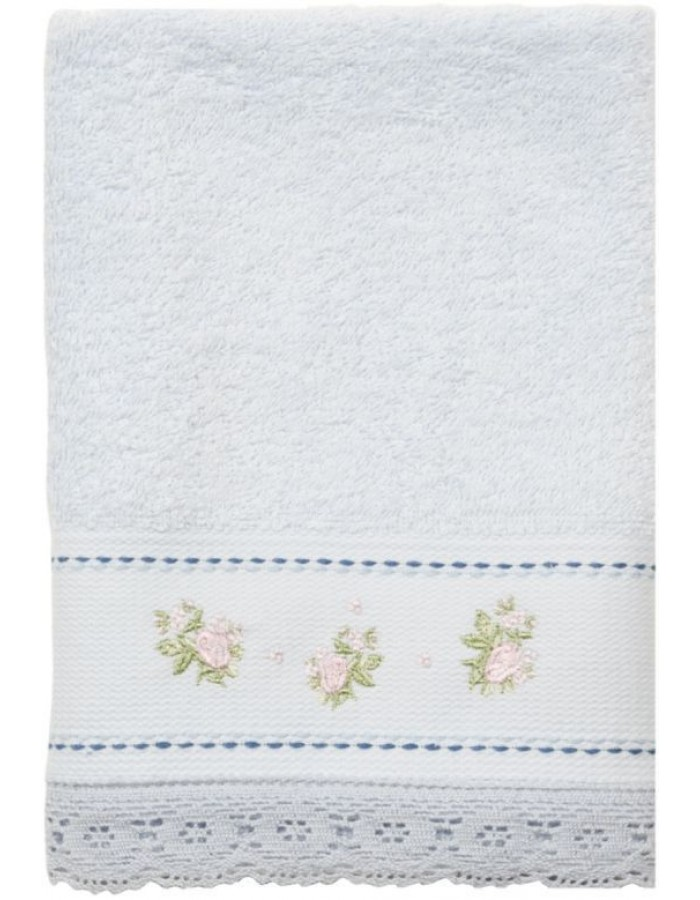 guest towel 30 x 50 cm TOW0005SLBL Clayre Eef light blue