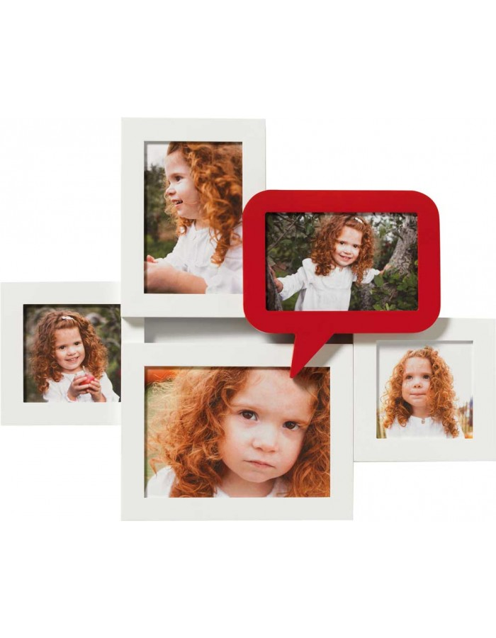 Walther Gallery Picture Frame Multi Red 5 photos | fotoalben-discount.de