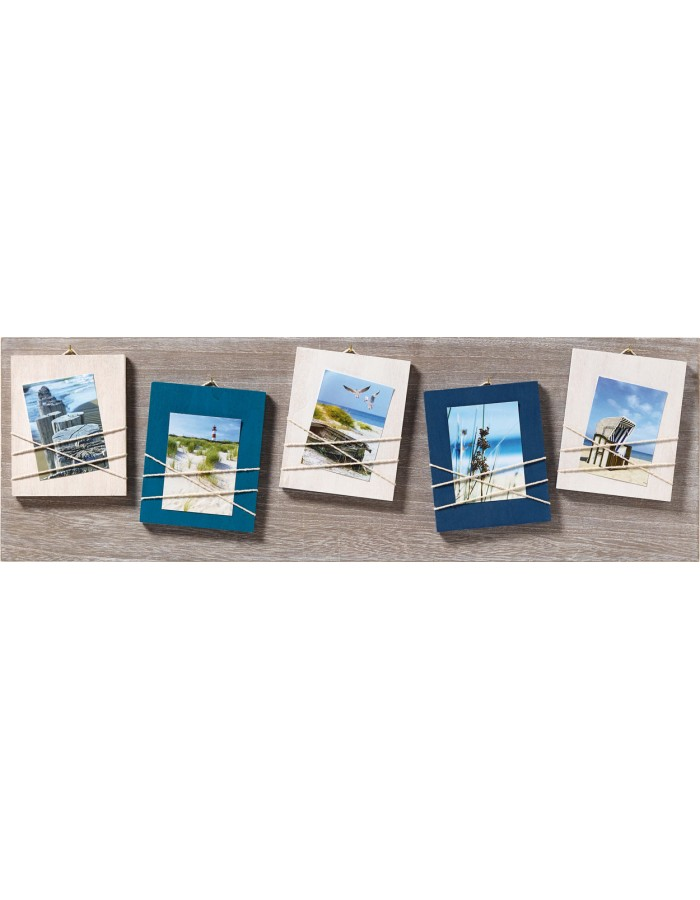 Walther gallery frames La Casa blue, for 5 photos 8x11 cm ...