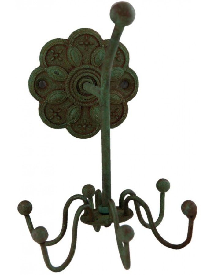 6y1808 clayre eef garderobenhaken blume aus eisen f r. Black Bedroom Furniture Sets. Home Design Ideas