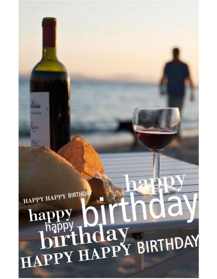 Geburtstagskarte Weinflasche ARTEBENE
