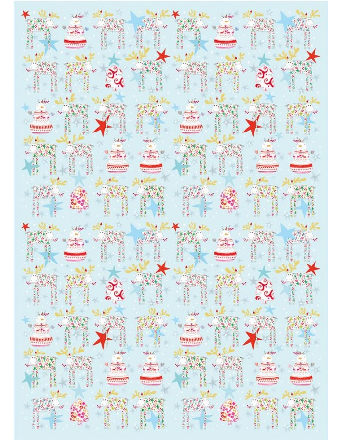 Wrapping paper Fun Moose Turnowsky