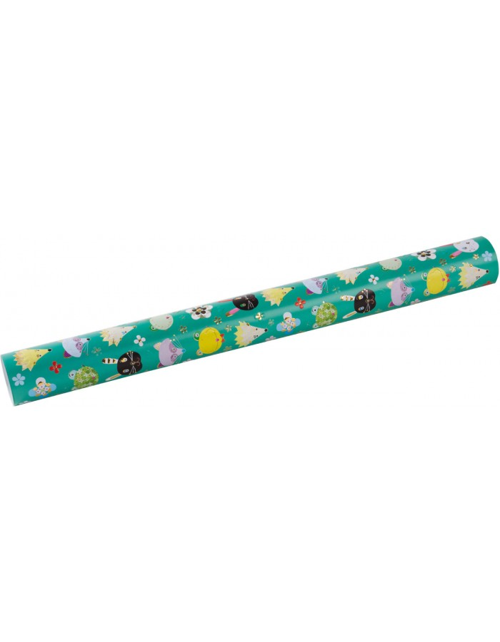 Gift wrap Heads up green 50x70 cm