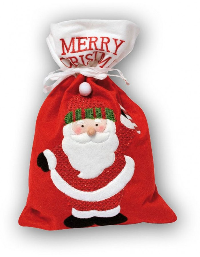 christmas bag 25x28 cm Santa Claus