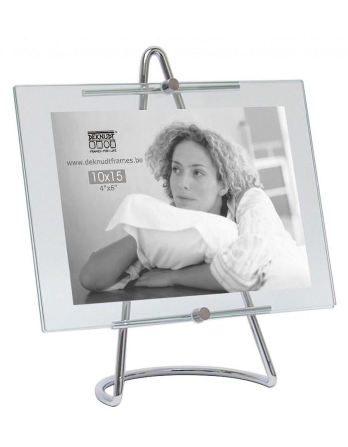 Glasrahmen Selekta mit Aufsteller für 10x15 cm | fotoalben-discount.de