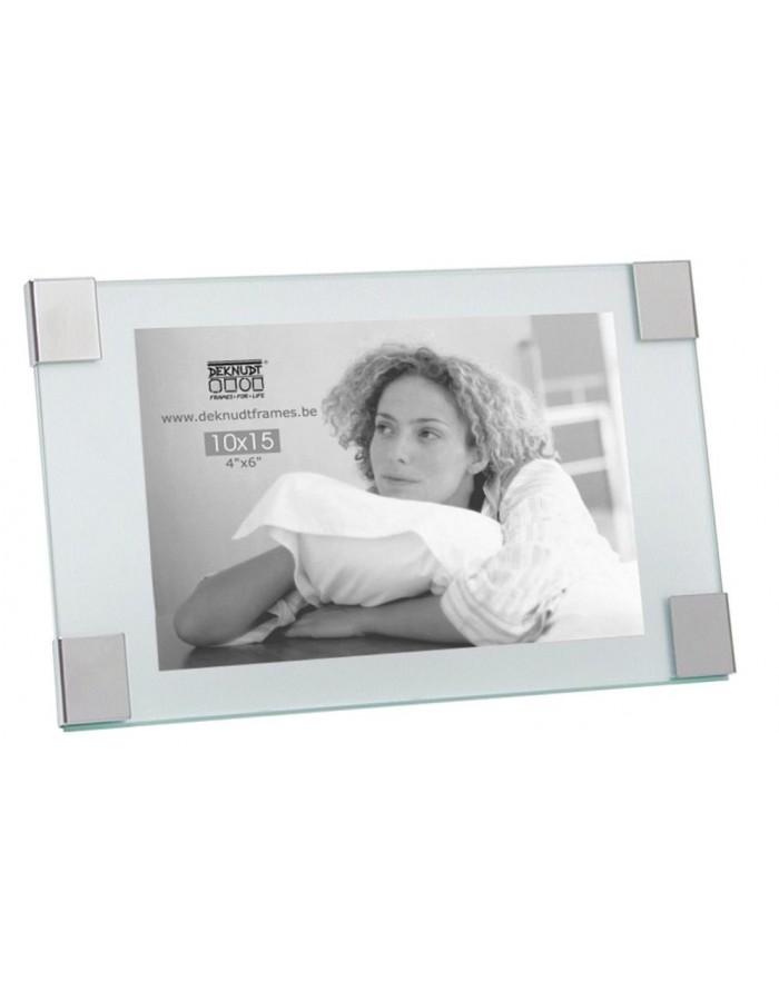 Deknudt glass frame Verre with silver corners 10x15 cm | fotoalben ...