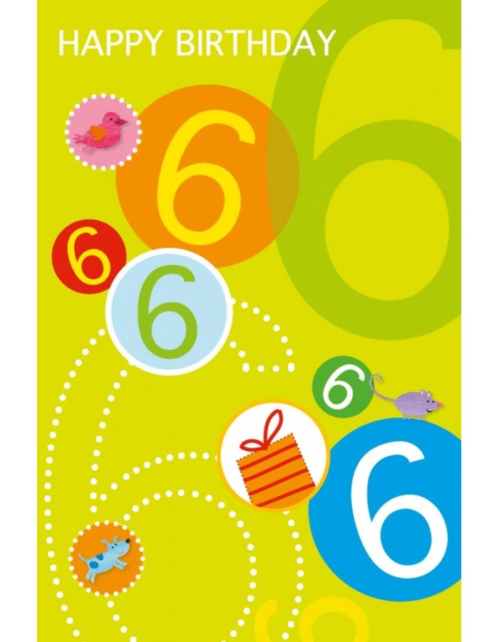 Glitterkarte Geburtstagskarte Zum 6 Geburtstag Artebene Fotoalben D