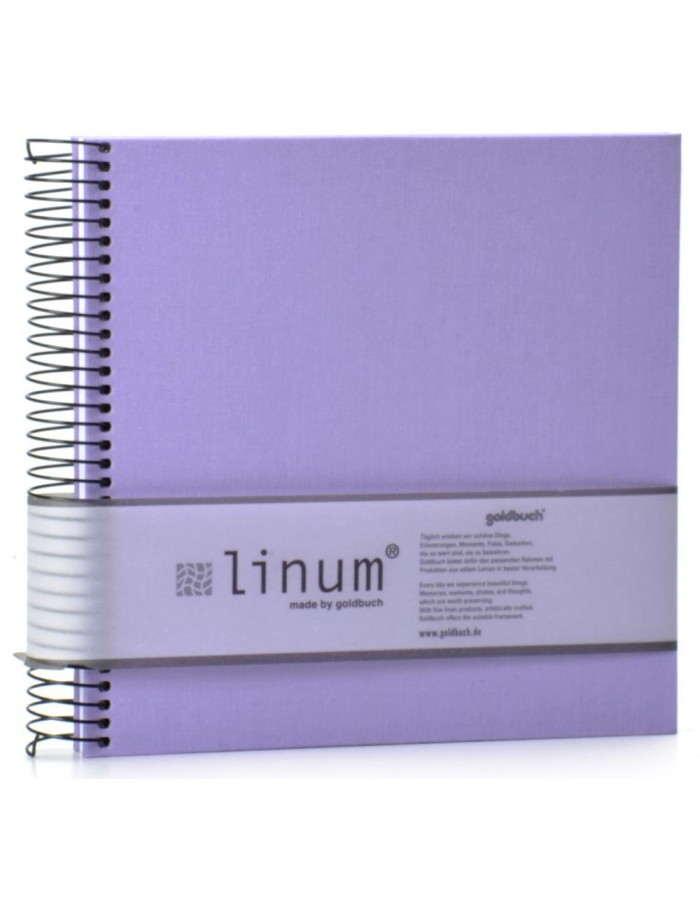 Goldbuch lilaac Linum note pad