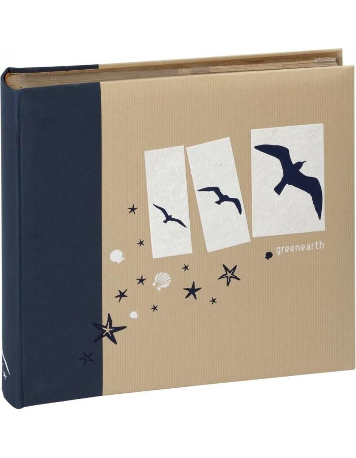 greenearth einsteckalbum 600 fotos 10x15 cm blau panodia fotoalben. Black Bedroom Furniture Sets. Home Design Ideas