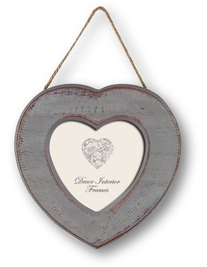 Grenoble wooden picture frame 10x10 cm with cord