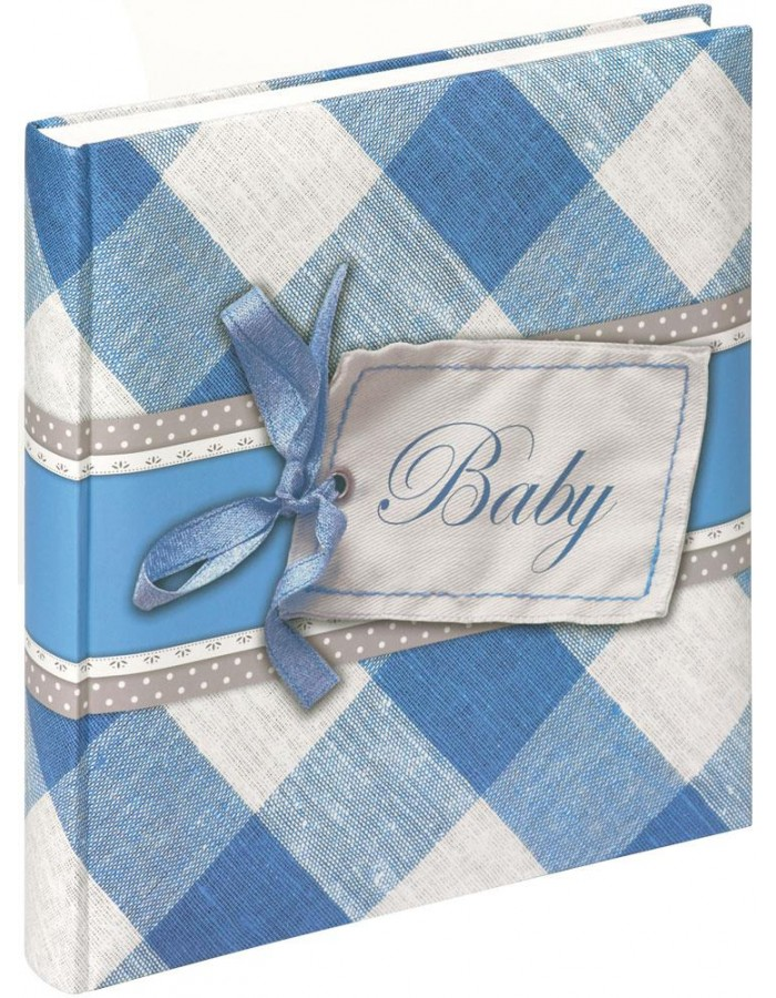 baby photo album HAPINESS boys blue