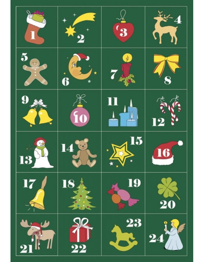 HERMA Adventskalender Sticker 1-24, beglimmert