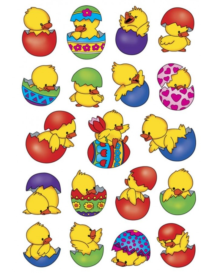 HERMA Sticker DECOR CHICKS IN THE EGG
