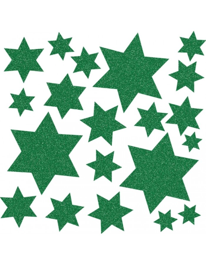 HERMA Window decoration stars, green