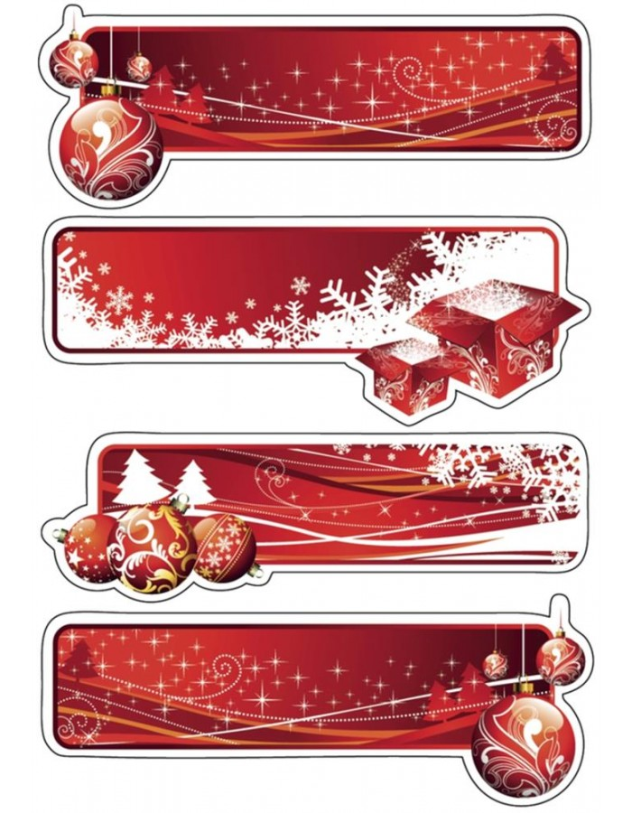 HERMA Sticker decor gift labels red, glittery