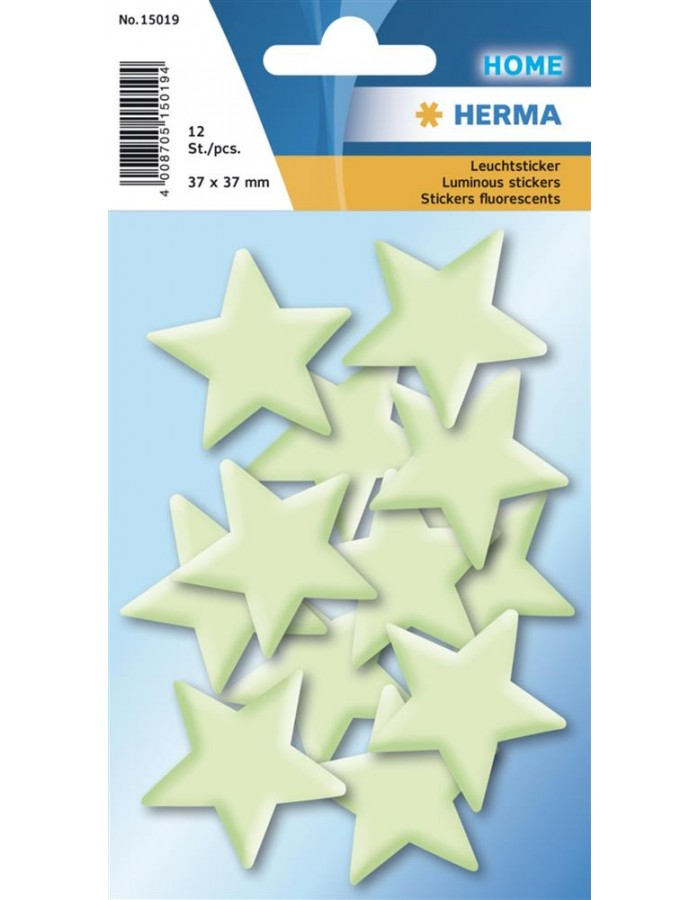 HERMA Stars mini sticker glow in the dark
