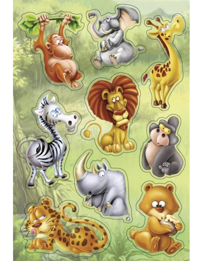 HERMA Sticker MAGIC Jungle animals, Popup