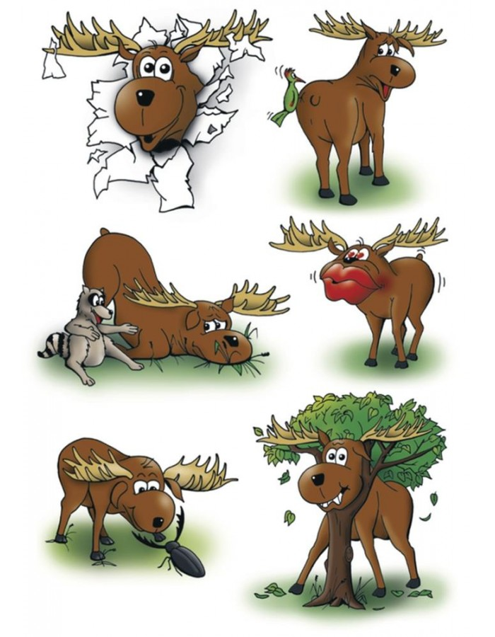 HERMA Sticker MAGIC Elks, Moving eyes