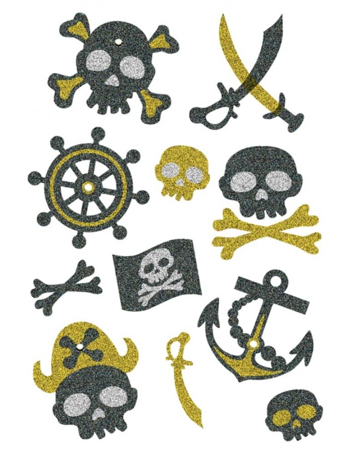 HERMA Sticker MAGIC pirates, glittery