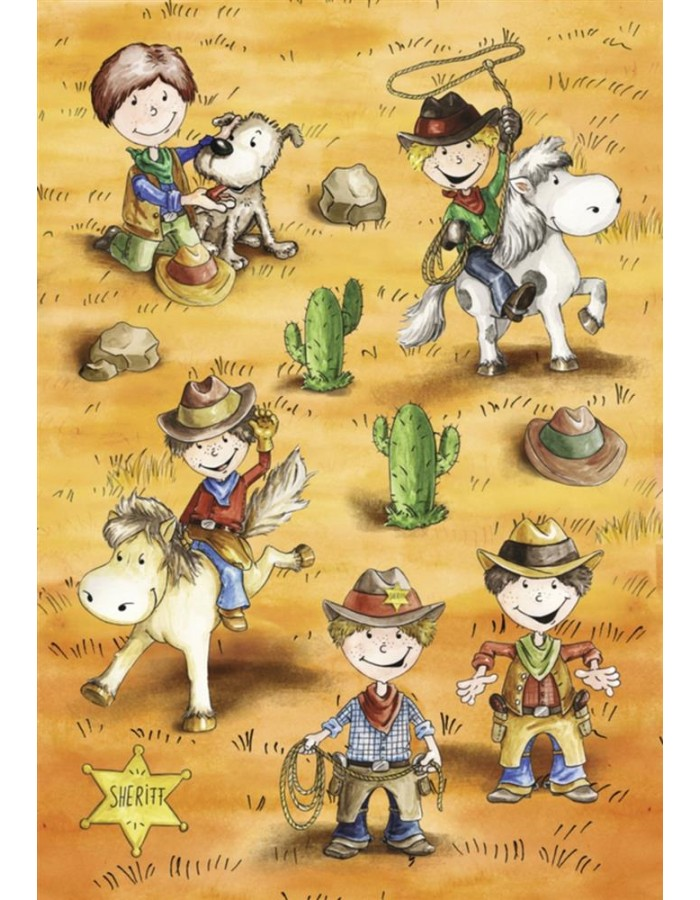 HERMA MAGIC lustige Cowboys, 3D Papier
