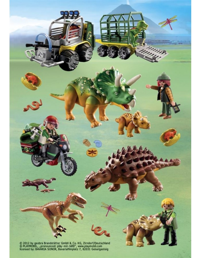 HERMA Sticker Playmobil Dinos, Stone