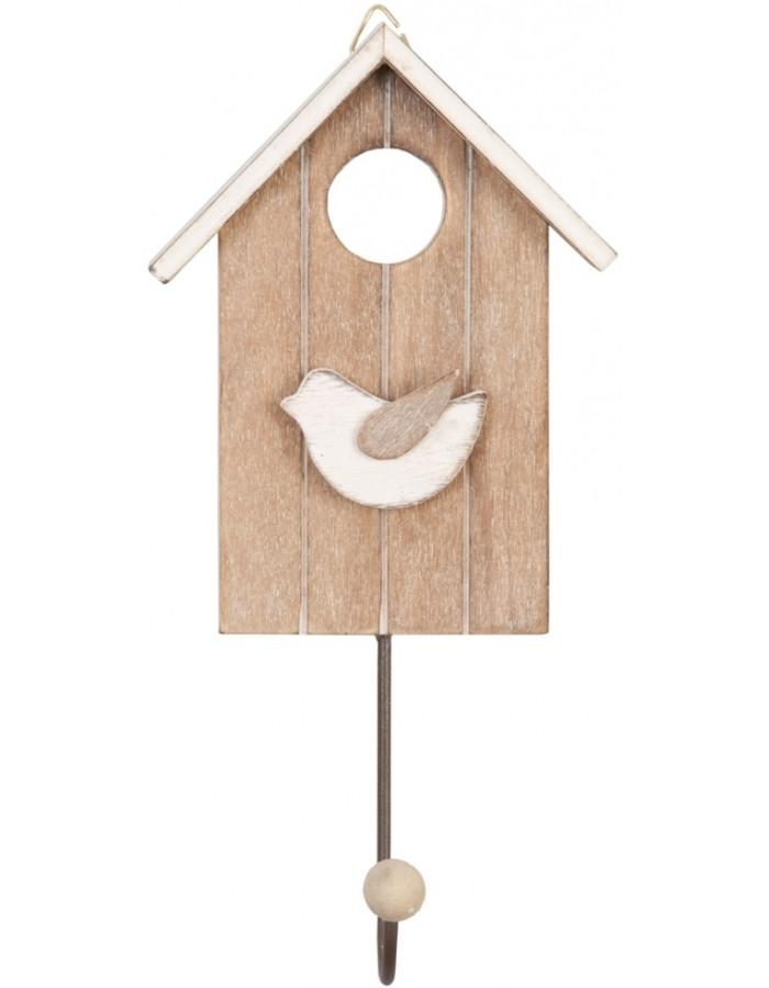 haken vogelhaus aus holz 18x10 cm clayre eef fotoalben. Black Bedroom Furniture Sets. Home Design Ideas