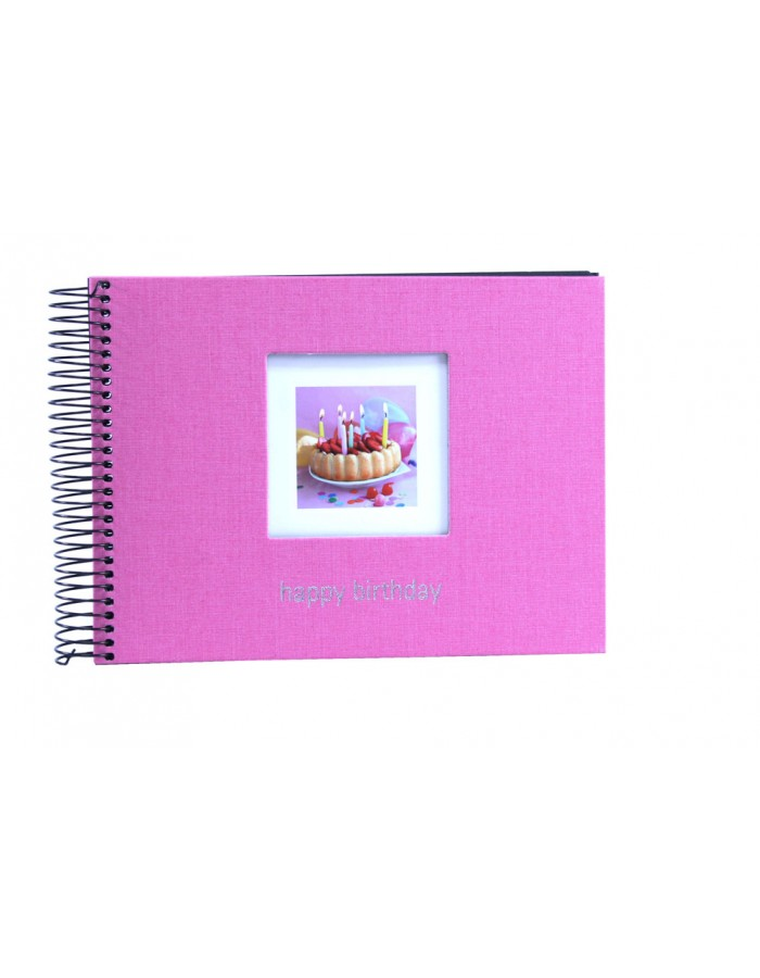 Happy Birthday spiral bound photo album