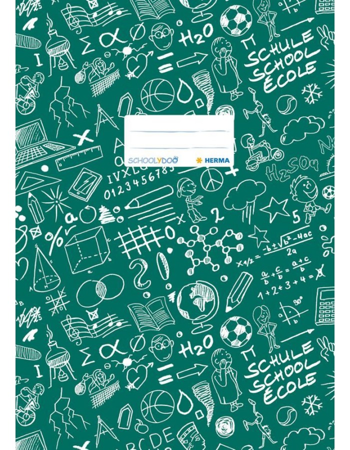 Exercise book cover A4 SCHOOLYDOO, dark green