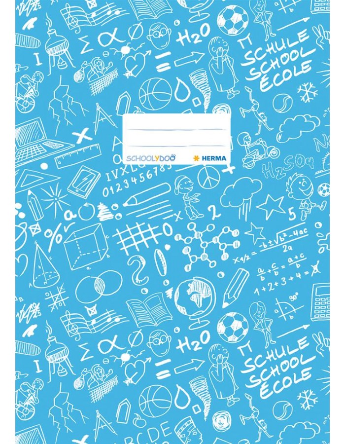 Exercise book cover A4 SCHOOLYDOO, light blue