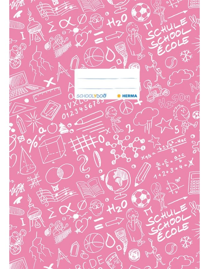 Excercise book cover A4 SCHOOLYDOO, pink