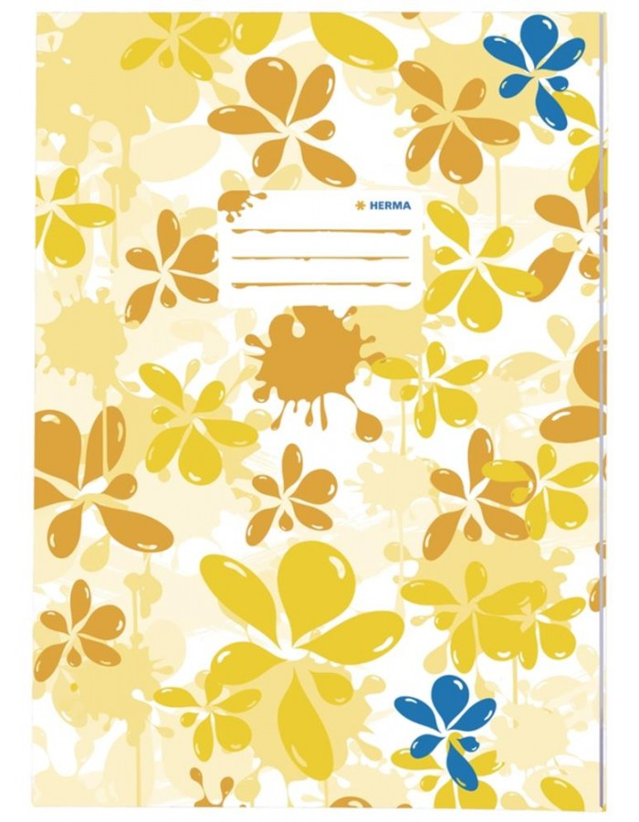 Exercise book cover A4 Splash yellow