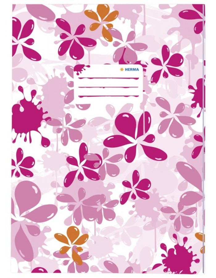 Exercise book cover A4 Splash pink